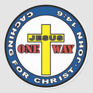Caching for Christ Classic Round Sticker