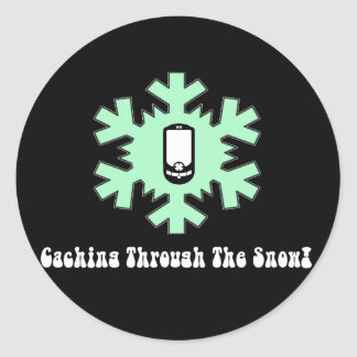Caching Through The Snow Classic Round Sticker