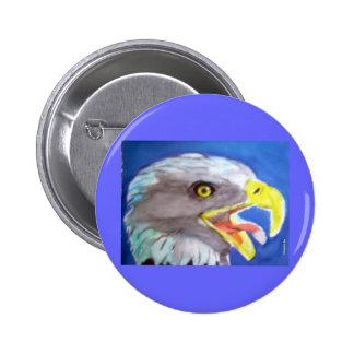 Cachinnating Eagle Pinback Button