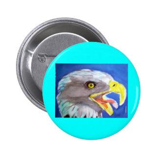 Cachinnating Eagle Pins