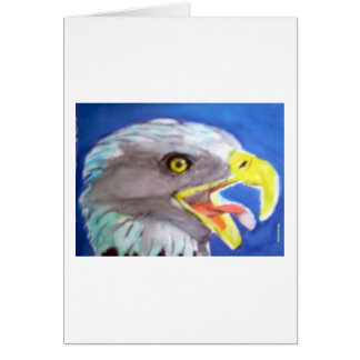 Cachinnating Eagle Greeting Cards