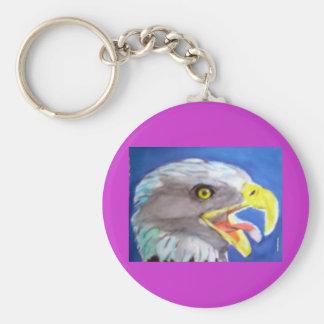 Cachinnating Eagle Key Chain