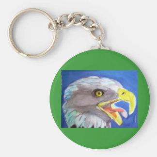Cachinnating Eagle Keychain