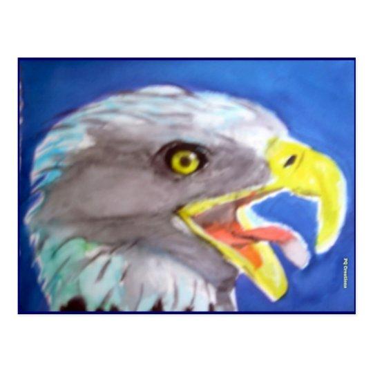 Cachinnating Eagle Postcard