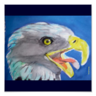 Cachinnating Eagle Poster