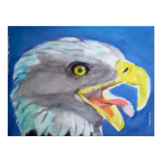 Cachinnating Eagle Posters