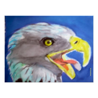 Cachinnating Eagle Print