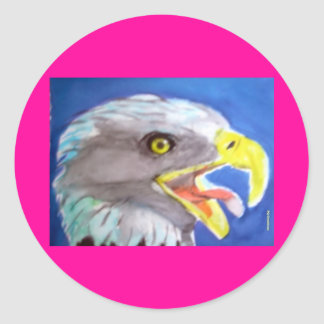 Cachinnating Eagle Round Sticker