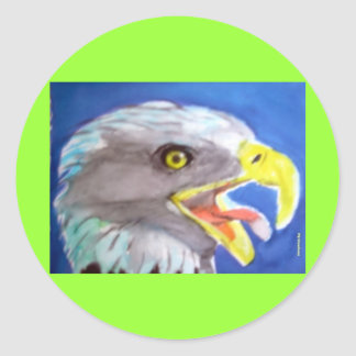 Cachinnating Eagle Round Stickers