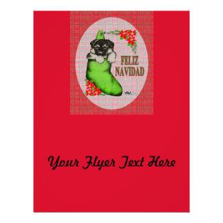 Cachorrito Feliz Navidad Flyer Design