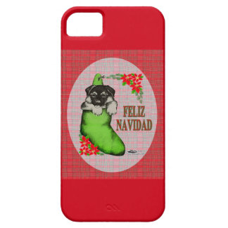Cachorrito Feliz Navidad iPhone SE/5/5s Case