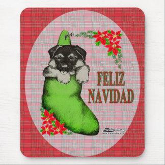 Cachorrito Feliz Navidad Mouse Pad