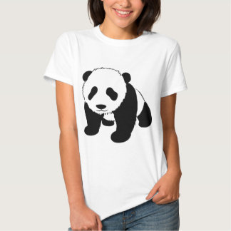 Cachorro de la panda del bebé que se arrastra playera