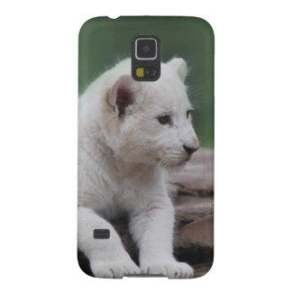 Cachorro de león blanco del bebé 2 funda de galaxy s5
