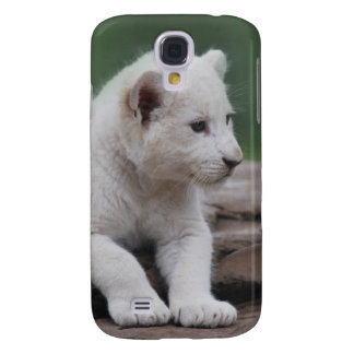 Cachorro de león blanco del bebé 2 funda para galaxy s4