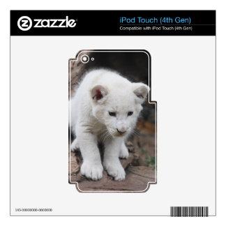 Cachorro de león blanco viejo de seis semanas del  iPod touch 4G skin