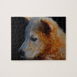 Cachorro de lobo del fractal del bebé puzzles