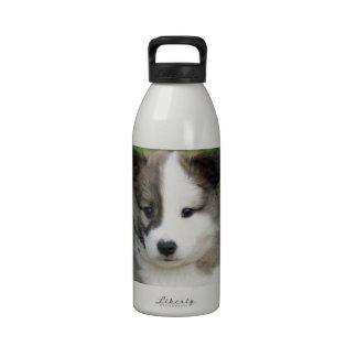 Cachorro de perro de islandia Splitface Botellas De Agua Reutilizables