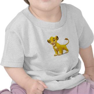 Cachorro de rey Simba del león que coloca Disney Camisetas