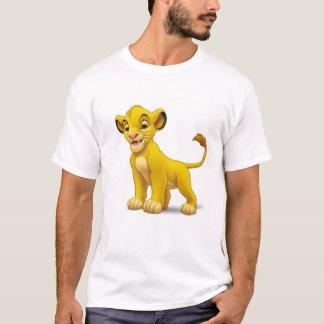 Cachorro de rey Simba del león que coloca Disney Playera