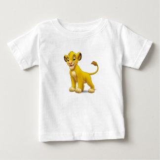 Cachorro de rey Simba del león que coloca Disney Playera De Bebé