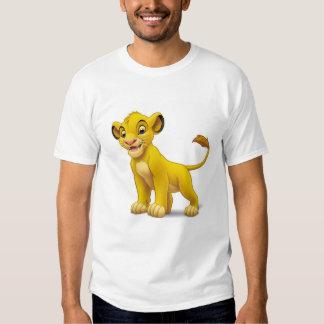 Cachorro de rey Simba del león que coloca Disney Poleras
