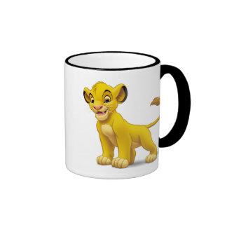 Cachorro de rey Simba del león que coloca Disney Taza De Dos Colores