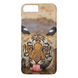 Cachorro de tigre real de Bengala, agua potable Funda iPhone 7 Plus