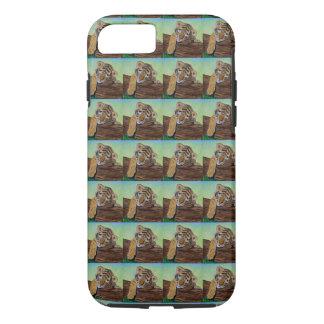 Cachorro de tigre soñoliento - tejado funda iPhone 7