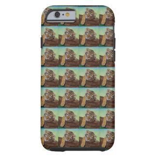 Cachorro de tigre soñoliento - tejado funda resistente iPhone 6