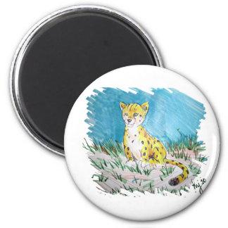 cachorro del guepardo imanes de nevera