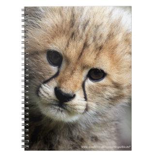 Cachorro del guepardo libretas espirales
