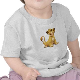 Cachorro Disney juguetón de rey Simba del león Camiseta