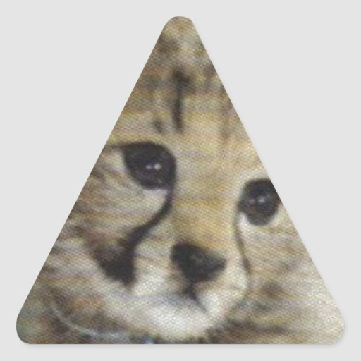 Cachorro lindo del guepardo pegatina triangular