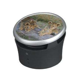 Cachorros de león en el registro, Panthera leo, Ma Altavoz Bluetooth
