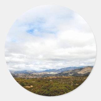 Cachuma Mountains Classic Round Sticker