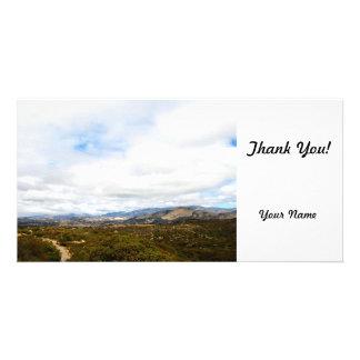 Cachuma Mountains Customized Photo Card