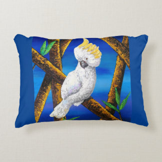 Cackatoo Painting Accent Pillow