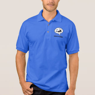 Cackle'N Comics Logo Mens Gildan Jersey Polo Shirt