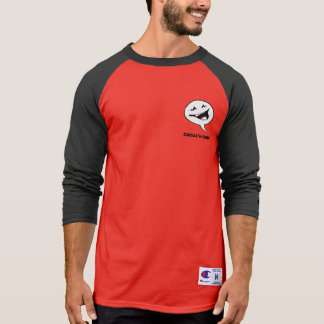 Cackle'N Comics Men's Champion 3/4 Sleeve Raglan T T-Shirt
