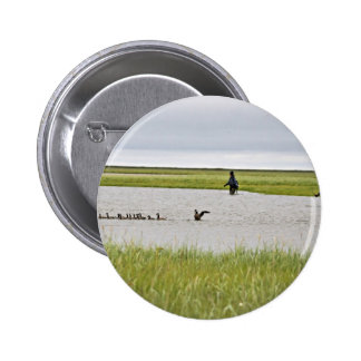 Cackling Canada goose drive Buttons