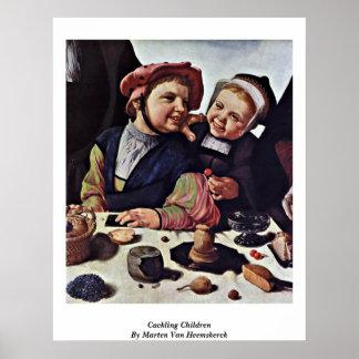 Cackling Children By Marten Van Heemskerck Posters