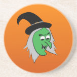 Cackling Witch Coaster in Orange