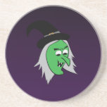 Cackling Witch Coaster in Purple