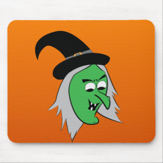 Cackling Witch Mousepad in Orange