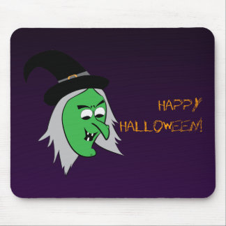 Cackling Witch Mousepad in Purple
