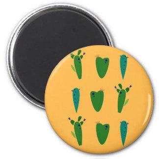Cacktuses on gold magnet