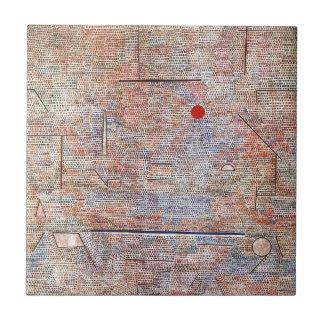 Cacodemonic por Paul Klee Azulejo Cuadrado Pequeño