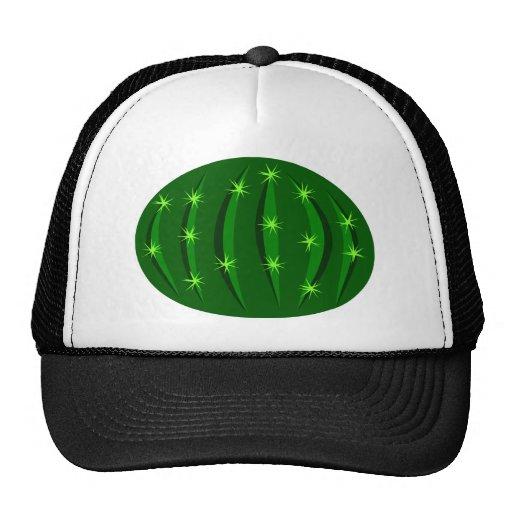 Cactus3 Vector GREEN SPARKLE CACTUS CACTI CARTOON Trucker Hat
