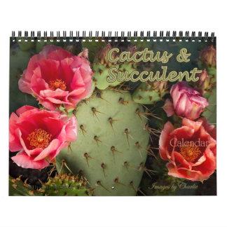 Cactus 2015 y calendario suculento de la flor